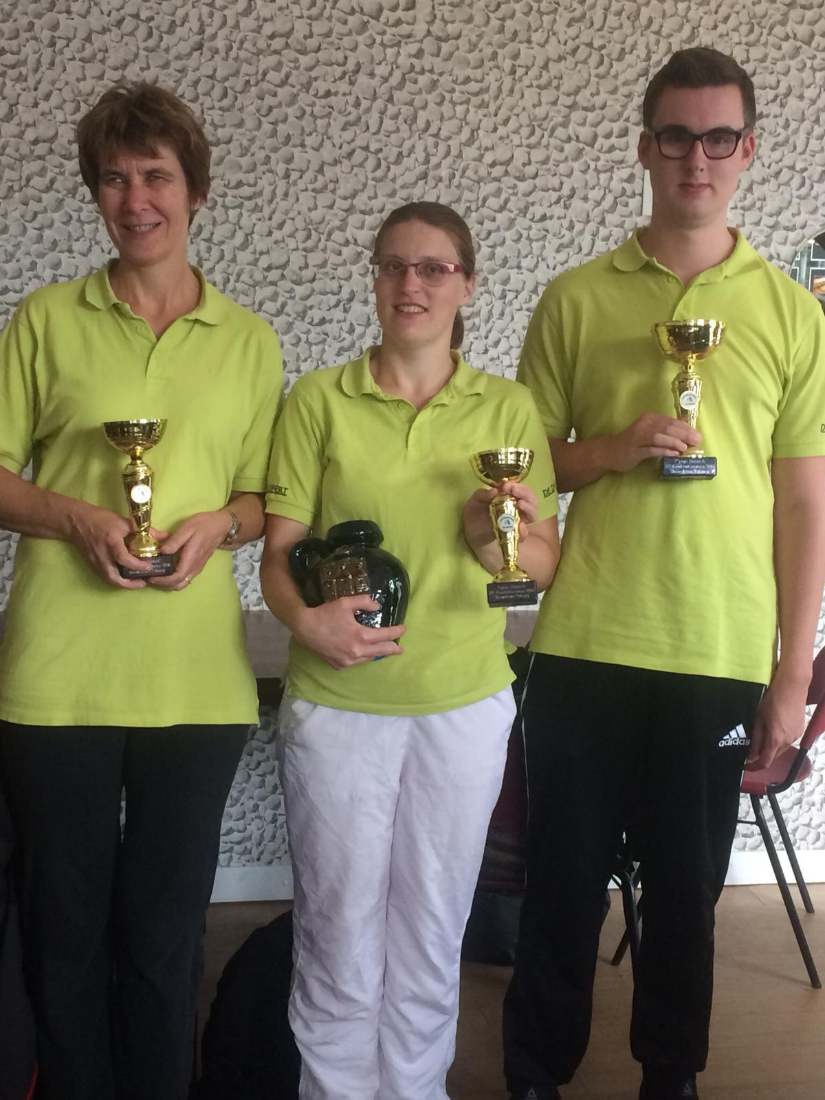 De prijswinnaars, Joke, Maaike en Twan