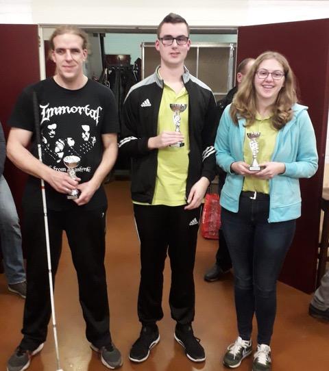 Prijswinnaars a-poule, Gijs, Twan en Marth